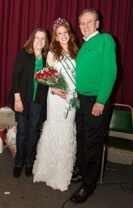 Colleen with her parents on her big night.