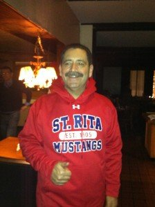 "Mayoral Candidate Jesus ""Chuy"" Garcia is a proud St. Rita Mustang."