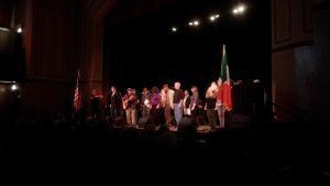 A supergroup singalong at the IAHC 1916 Easter Rising tribute concert.