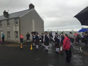 Pipes and drums at the Ulster Scots parade in Ballycarry