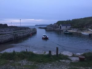 Ballintoy Harbour at dusk