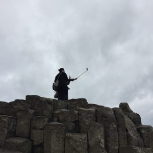 Australian selfie-takers at Giant's Causeway